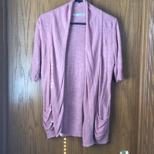 Maurices salmon color 1/2 sleeve cardigan